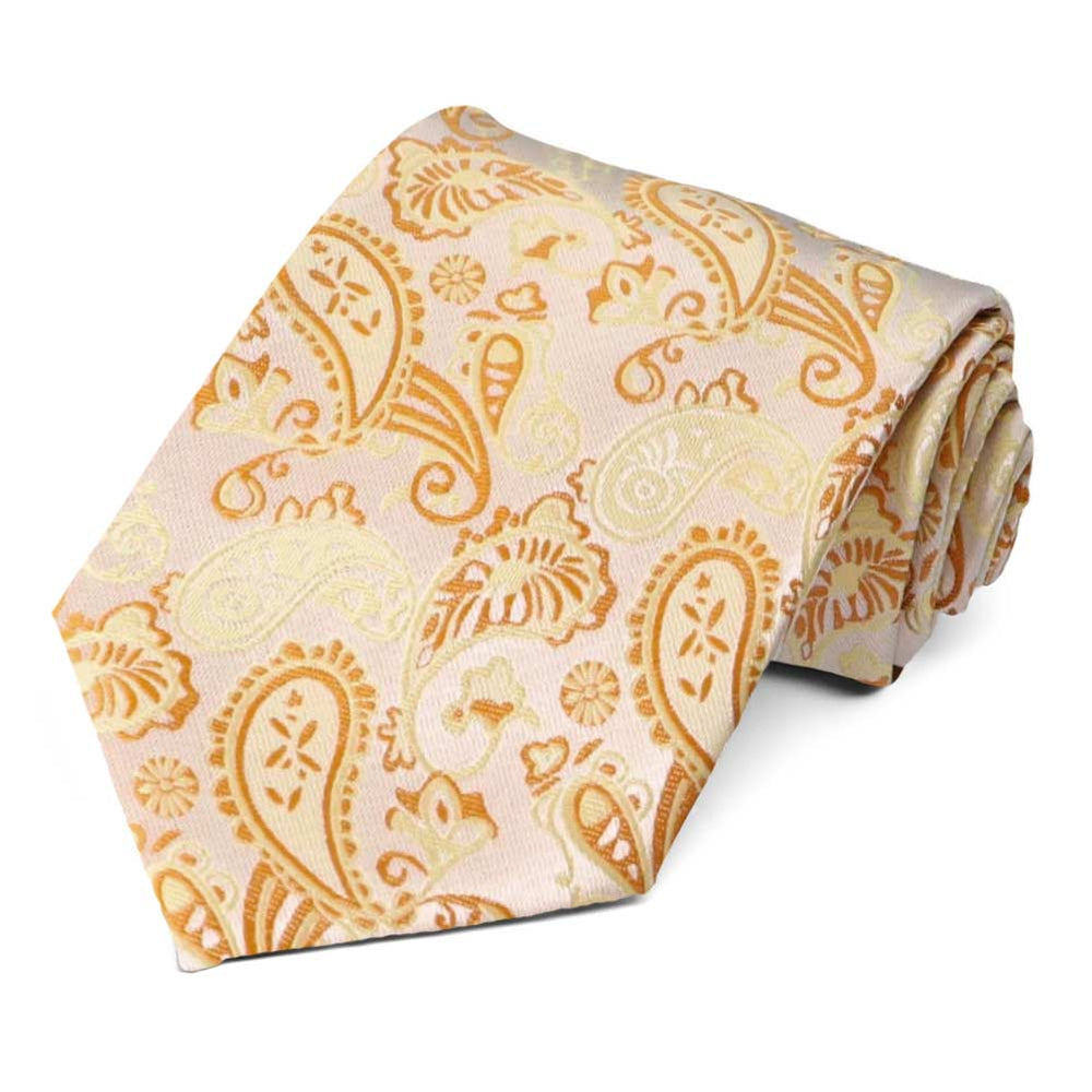 Gold and yellow paisley tie