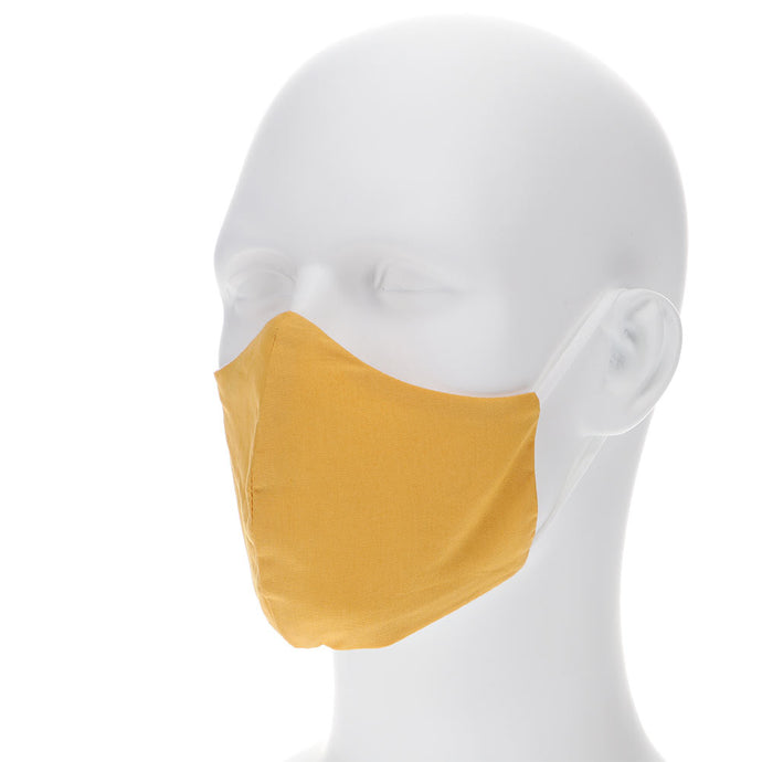 Gold bar face mask on a mannequin with filter pocket