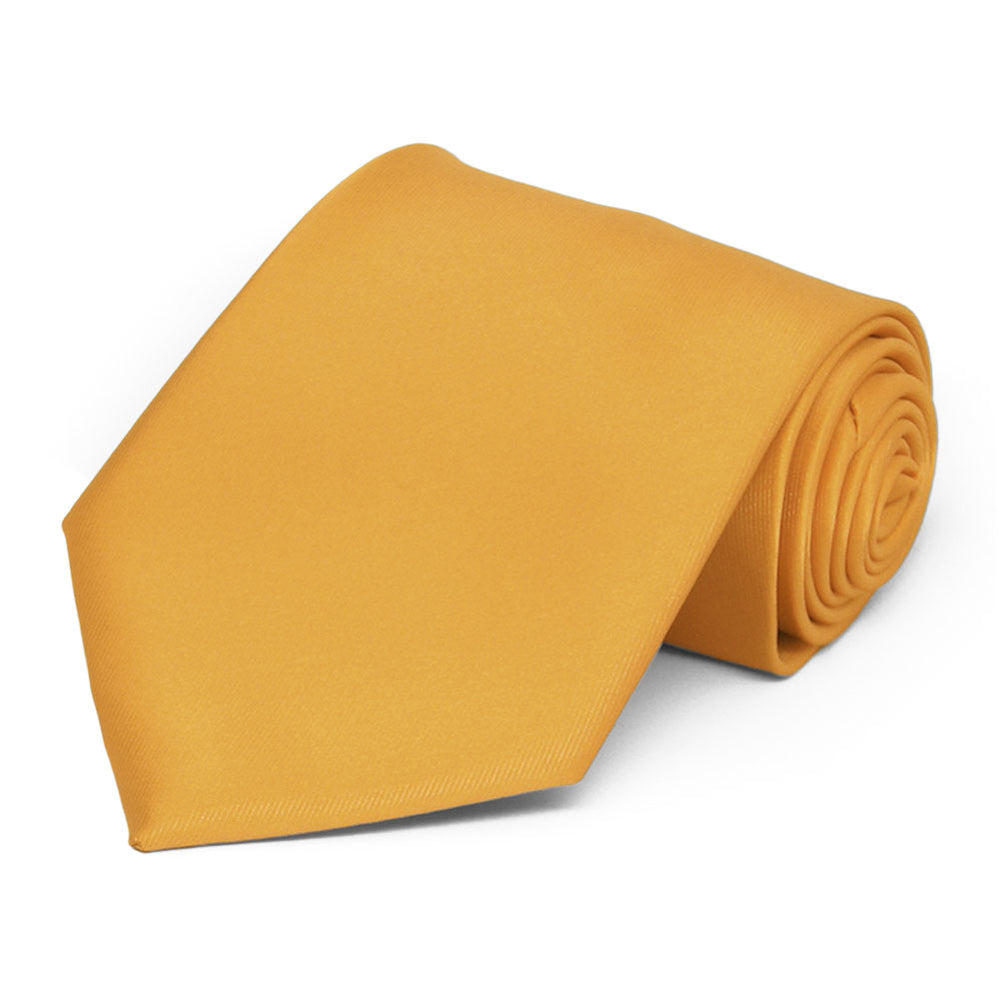 Gold Bar Solid Color Necktie
