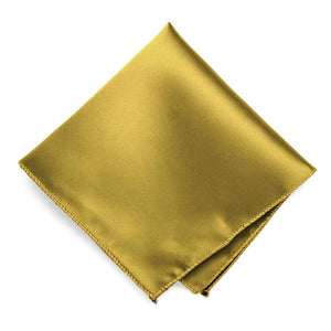 Gold Solid Color Pocket Square