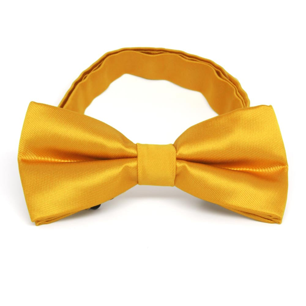 Golden Yellow Band Collar Bow Tie