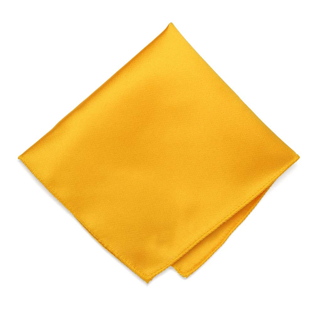 Golden Yellow Solid Color Pocket Square