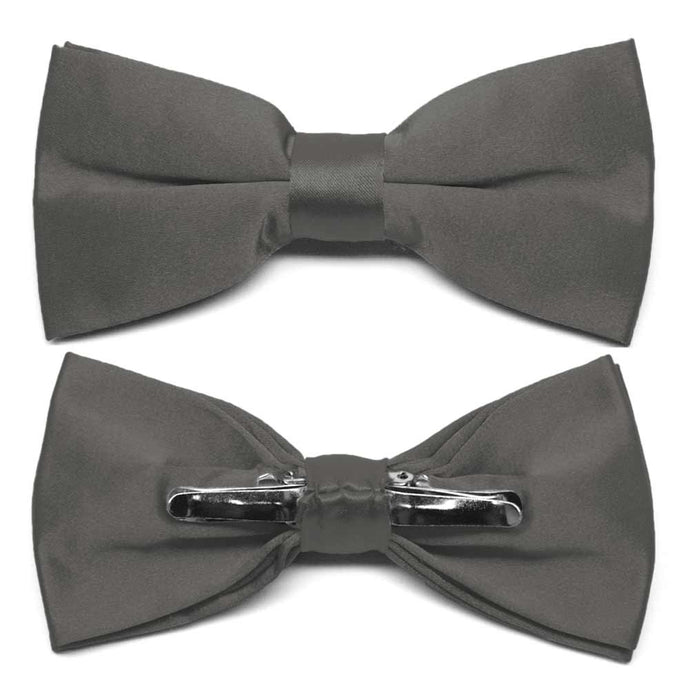 Graphite Gray Clip-On Bow Tie