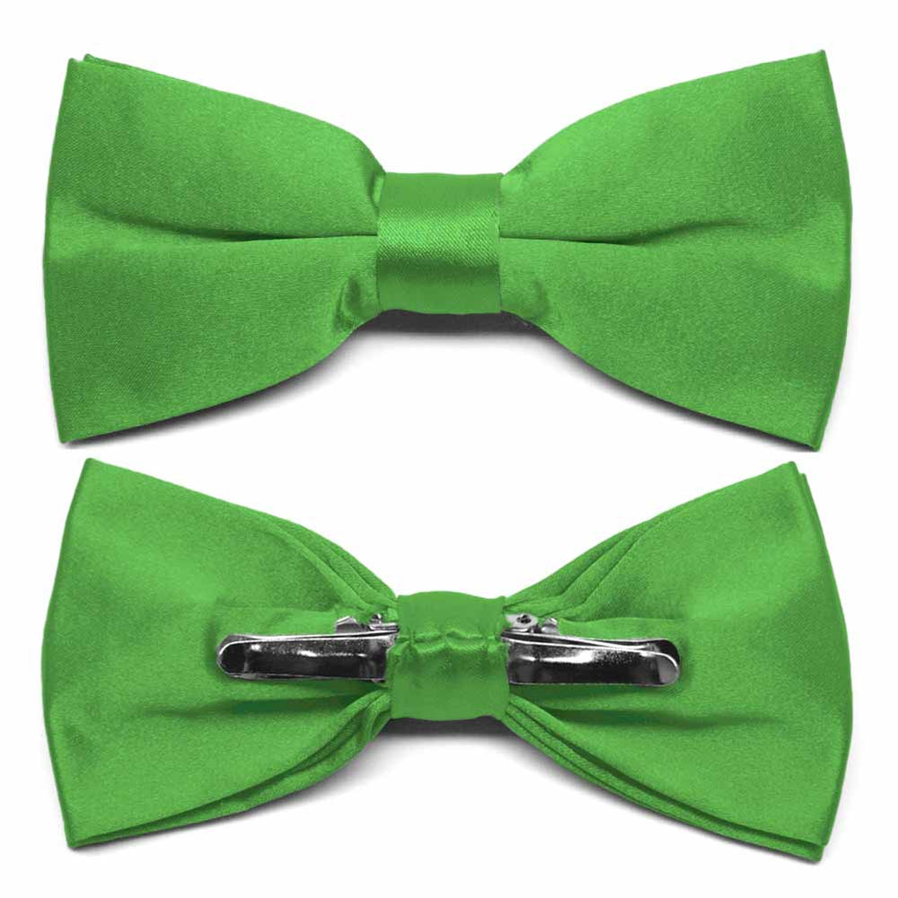 Grass Green Clip-On Bow Tie