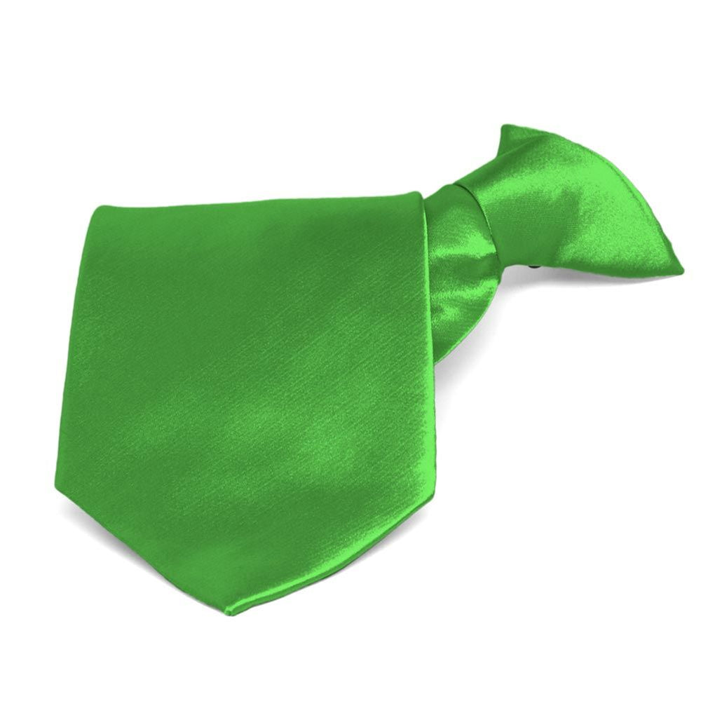 Grass Green Solid Color Clip-On Tie