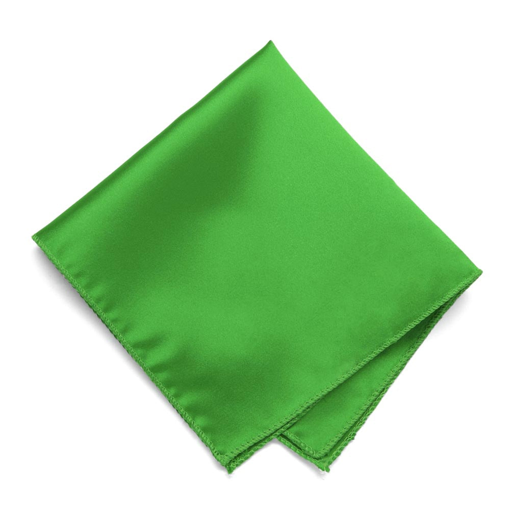 Grass Green Solid Color Pocket Square