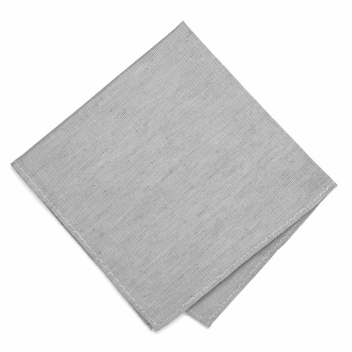 Gray Regency Linen/Silk Pocket Square