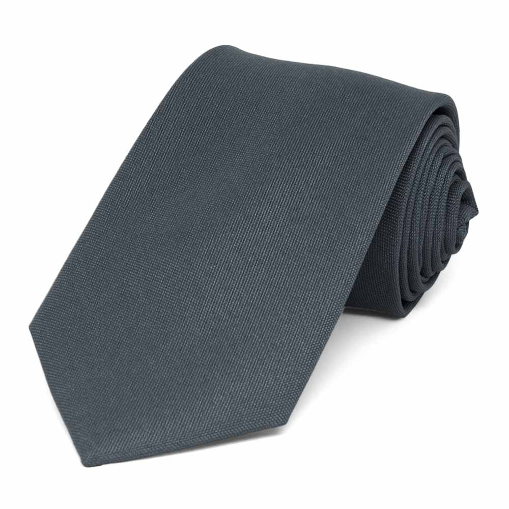 Gray Matte Finish Necktie, 3