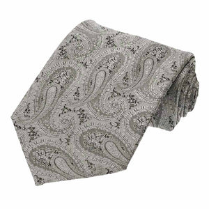 Gray Melville Paisley Extra Long Necktie