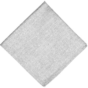 Gray textured pocket square