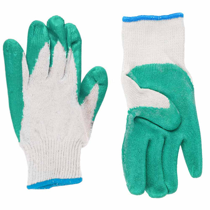 Men's white and green gardening gloves