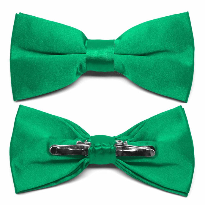 Green Clip-On Bow Tie