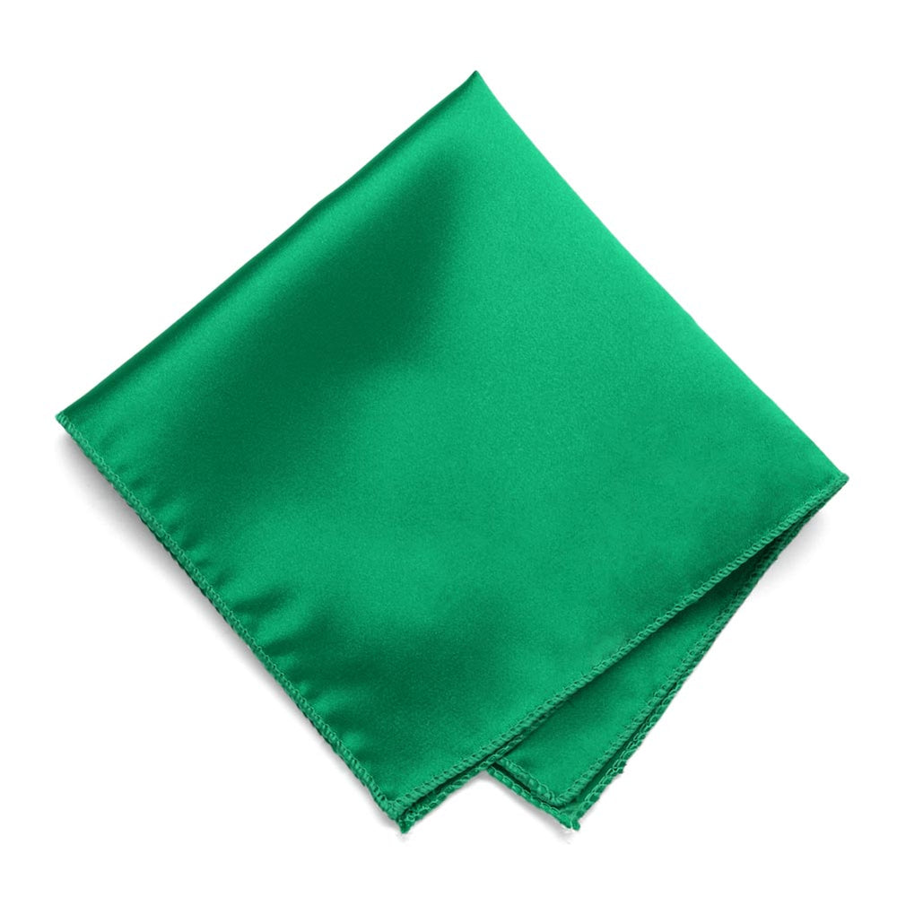 Green Solid Color Pocket Square