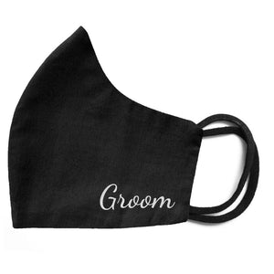 Groom face mask in black