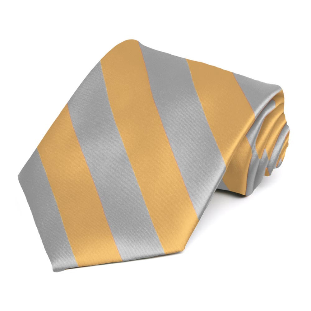 Honey Gold and Silver Striped Tie