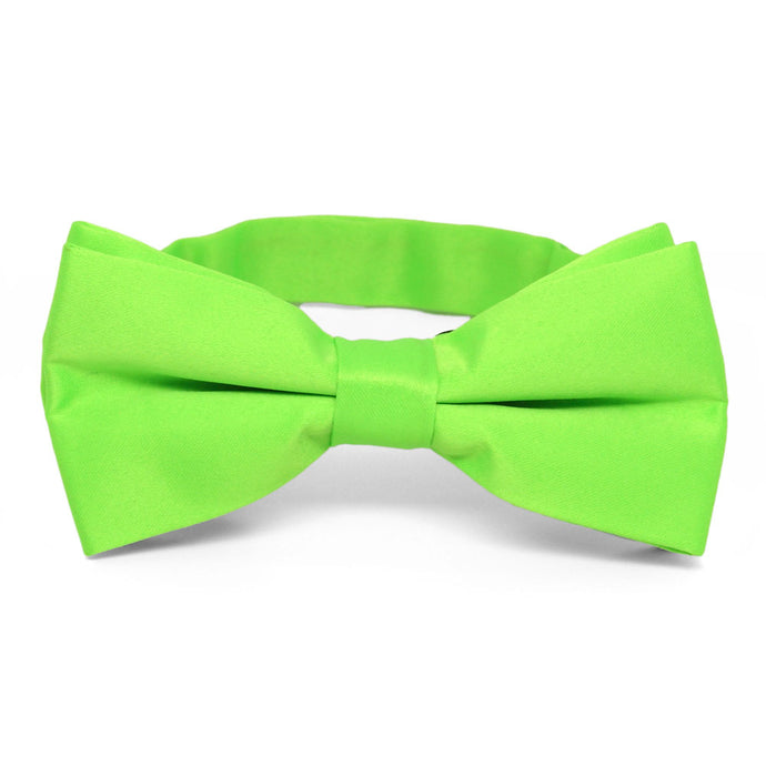 Hot Lime Green Band Collar Bow Tie