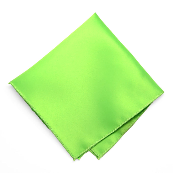Hot Lime Green Solid Color Pocket Square