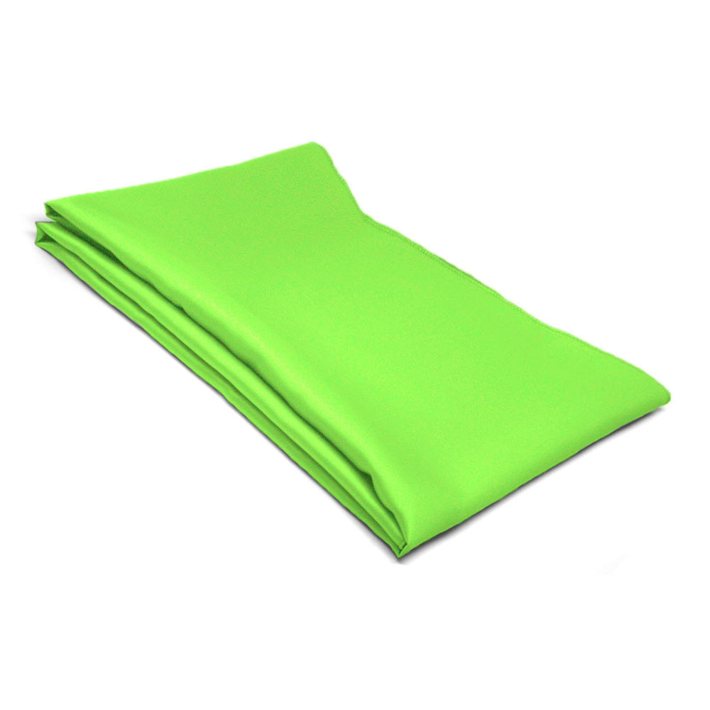 Hot Lime Green Solid Color Scarf