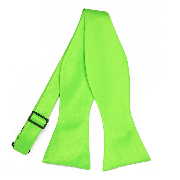 Hot Lime Green Self-Tie Bow Tie