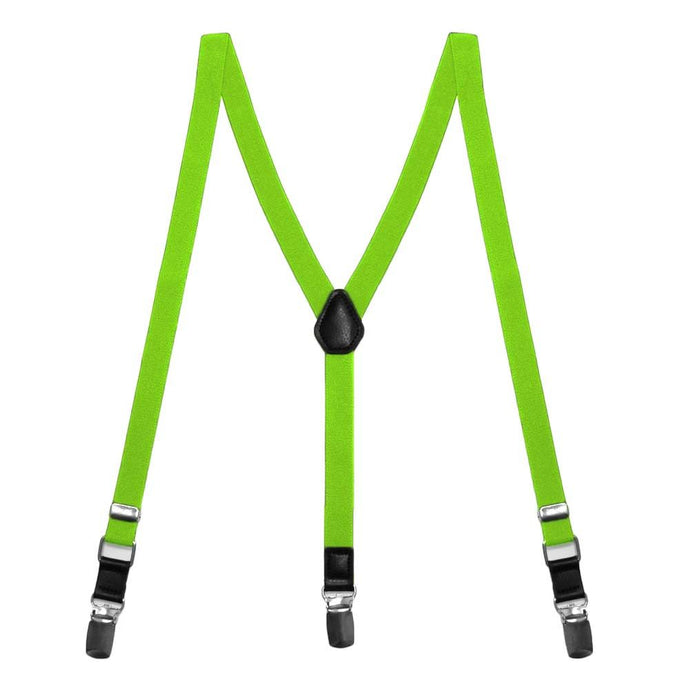 Hot Lime Green Skinny Suspenders