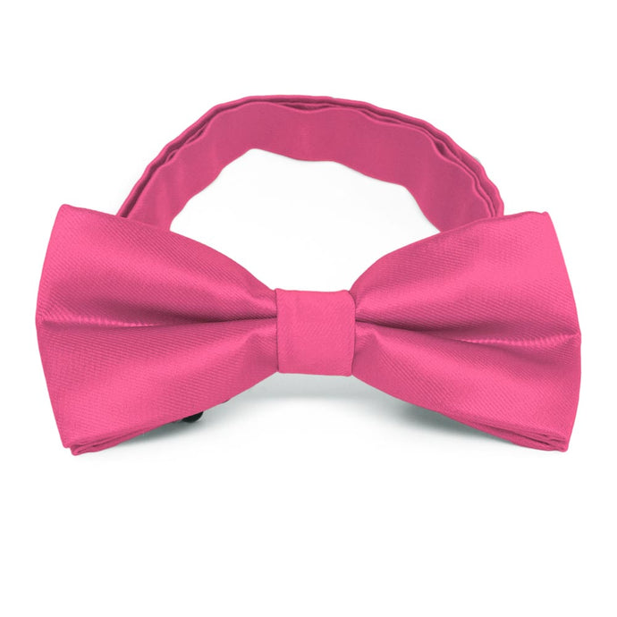 Hot Pink Band Collar Bow Tie