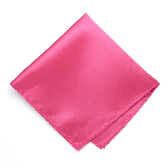 Hot Pink Solid Color Pocket Square