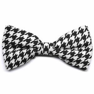 Houndstooth Band Collar Bow Tie