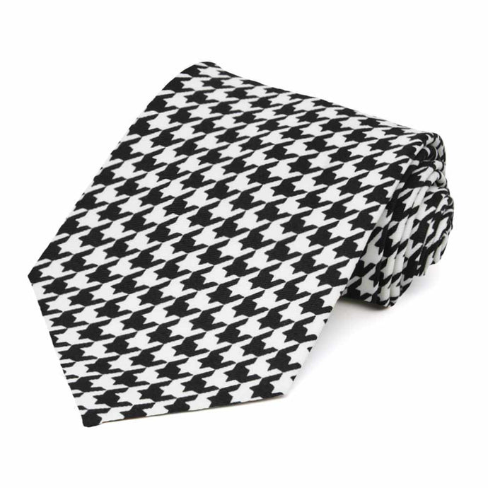 Houndstooth Extra Long Necktie