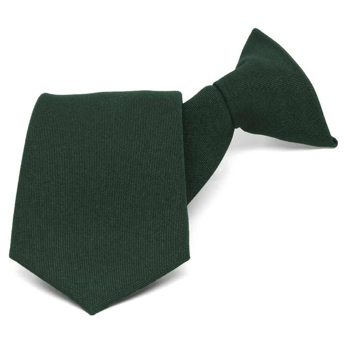 Hunter Green Clip-On Uniform Tie
