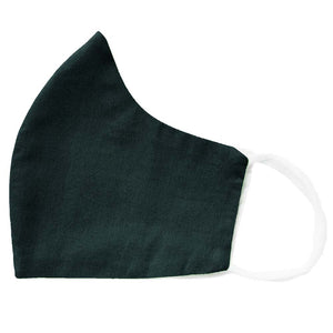 hunter green face mask folded