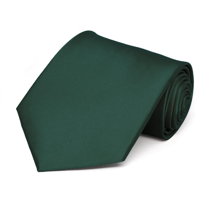 Hunter Green Solid Color Necktie