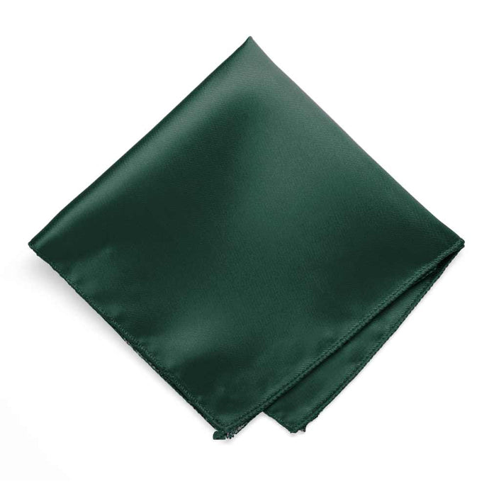 Hunter Green Solid Color Pocket Square