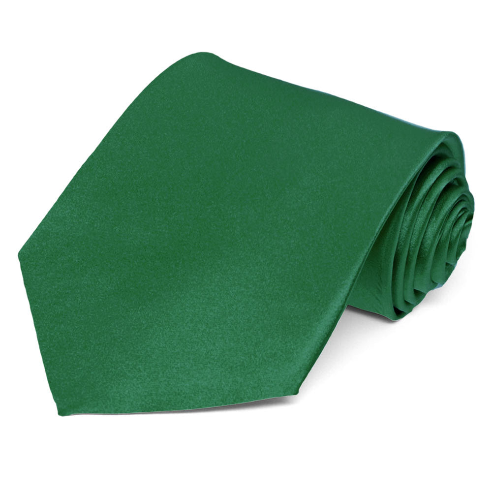 Hunter Green Silk Necktie