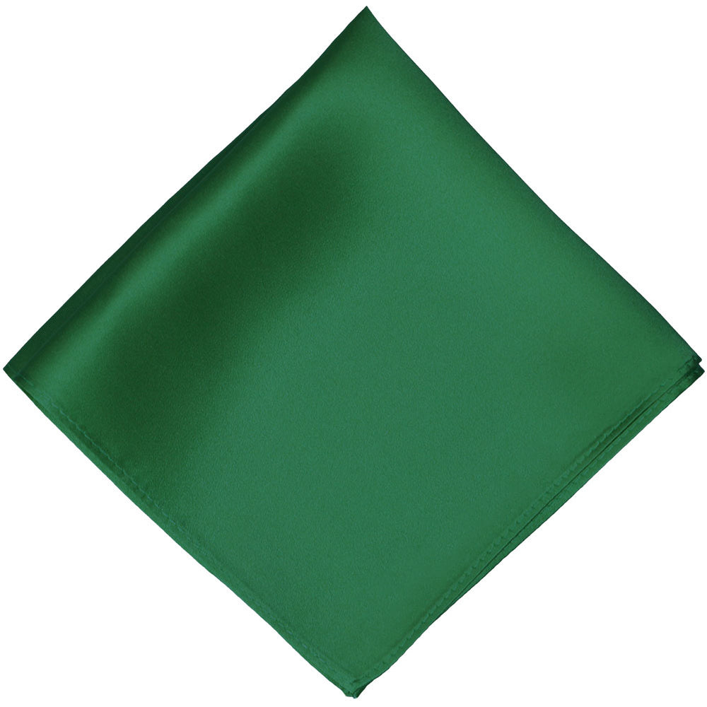 Hunter Green Silk Pocket Square