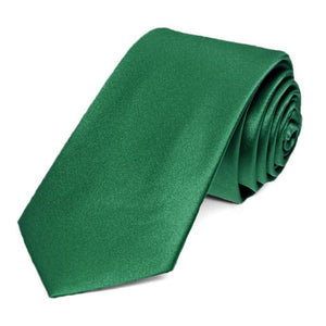Hunter Green Silk Slim Necktie