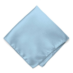 Ice blue herringbone textured pocket square