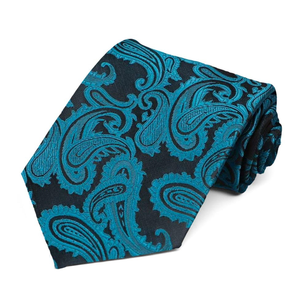 Ink Blue Sutter Paisley Extra Long Necktie