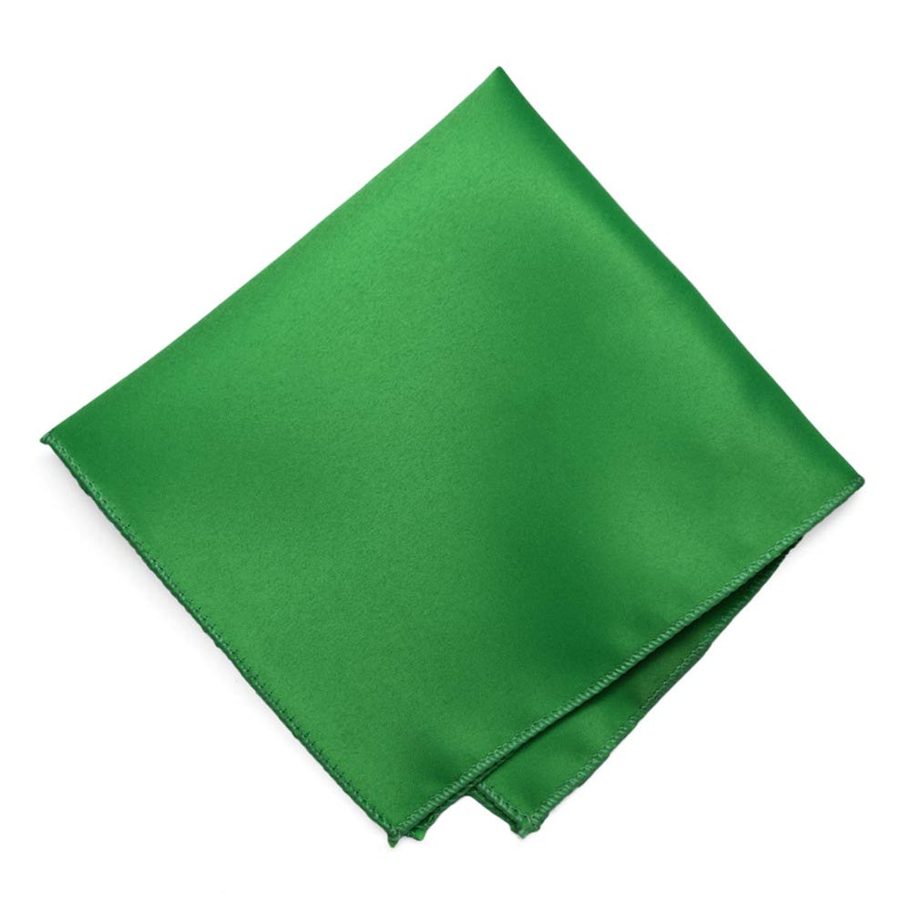Irish Green Solid Color Pocket Square