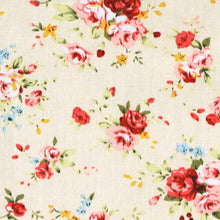 Load image into Gallery viewer, Ivory and pink floral fabric