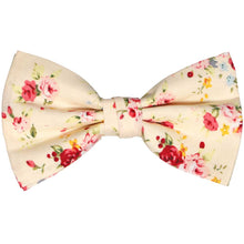Load image into Gallery viewer, Ivory floral bow tie
