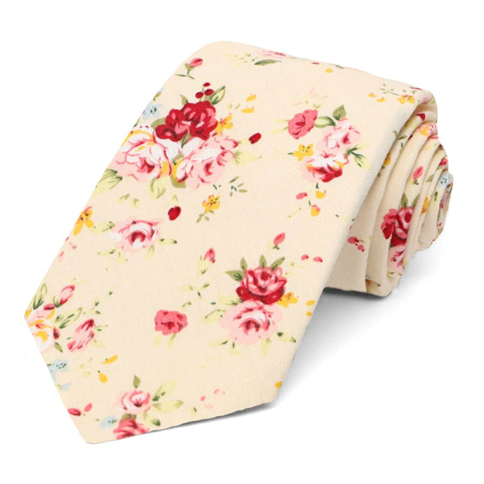 Pomona Floral Cotton Narrow Necktie