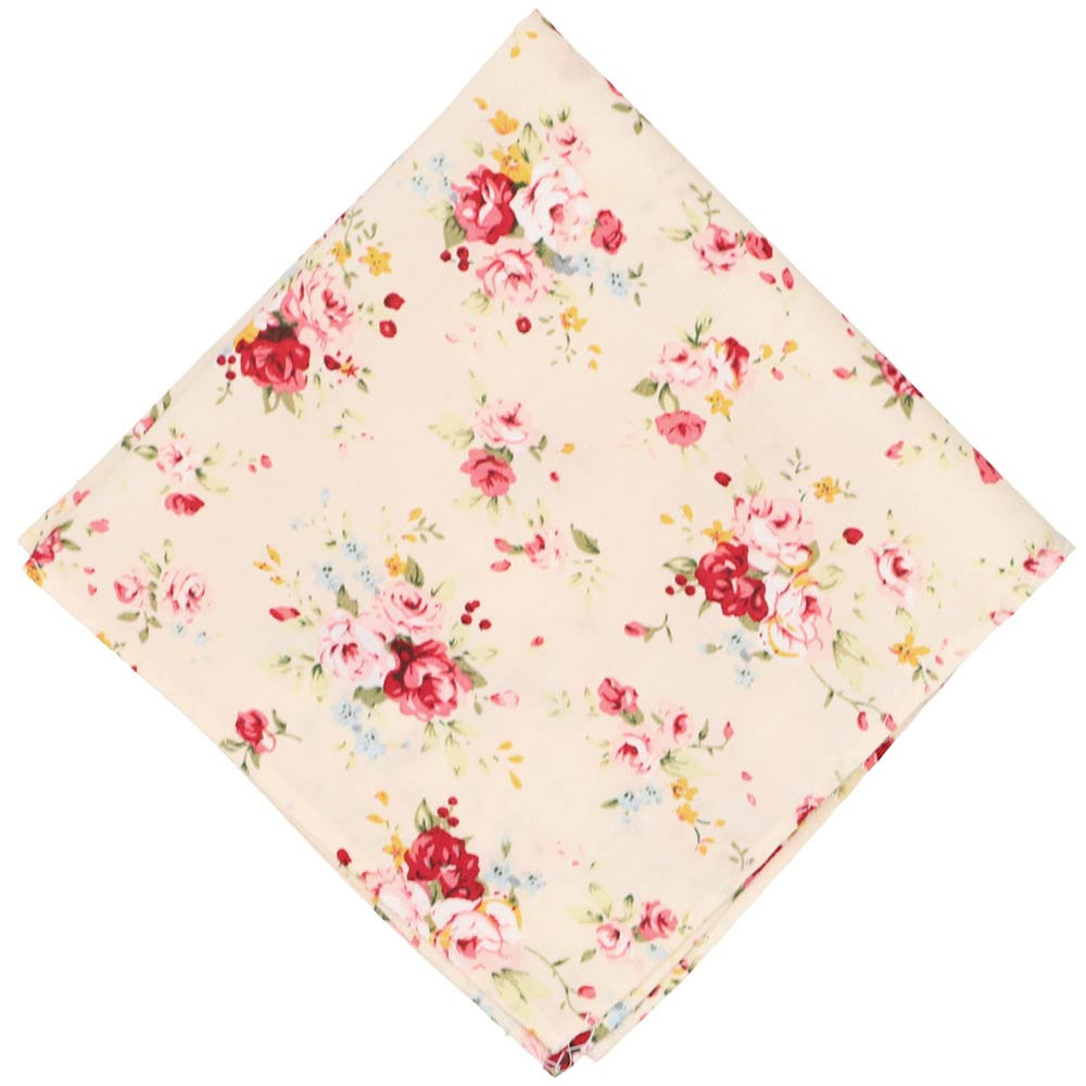 Pomona Floral Cotton Pocket Square