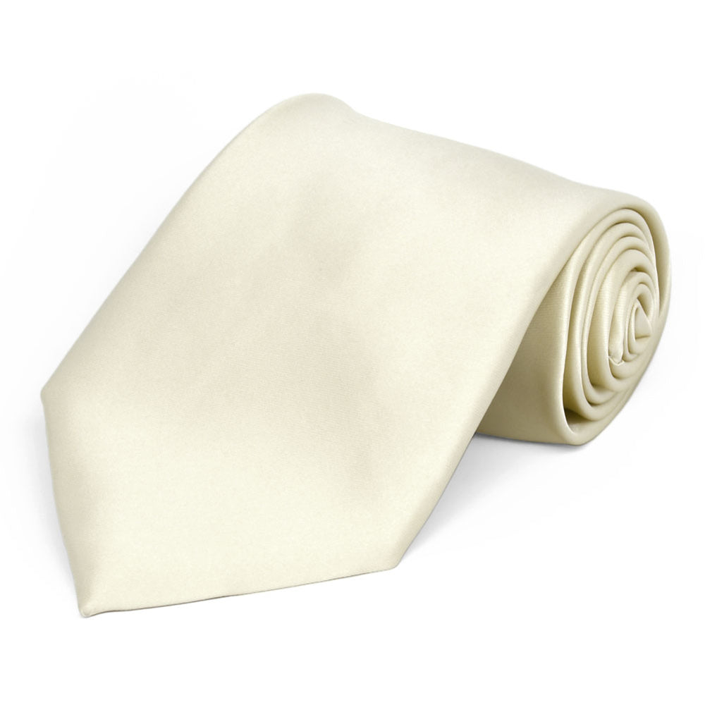 Ivory Premium Extra Long Solid Color Necktie