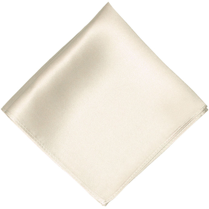 Ivory Silk Pocket Square