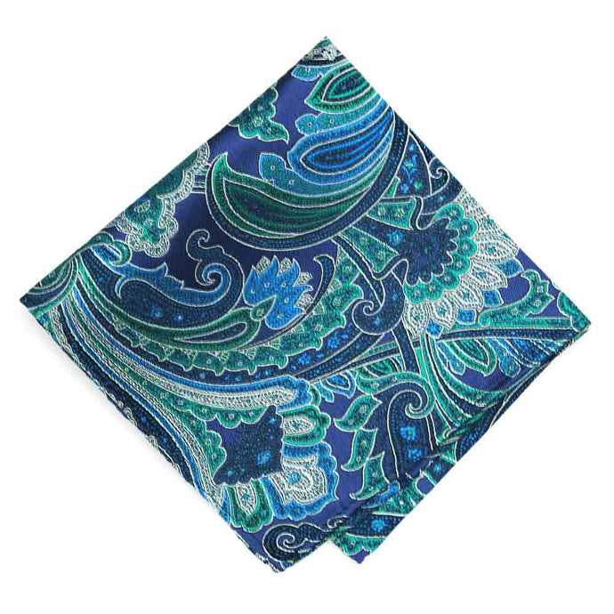 Blue Velvet Sergeant Paisley Silk Pocket Square