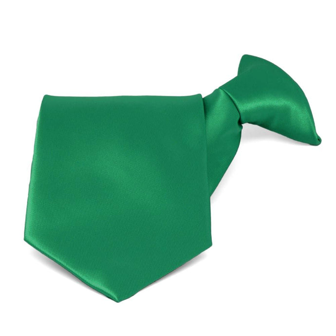 Kelly Green Solid Color Clip-On Tie