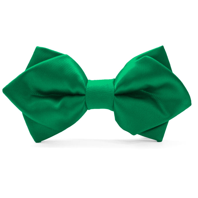 Kelly Green Diamond Tip Bow Tie