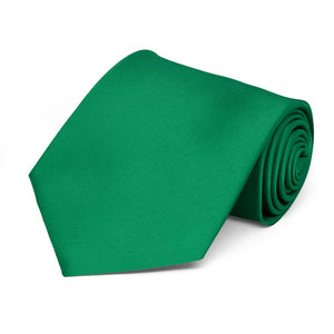 Kelly Green Extra Long Solid Color Necktie