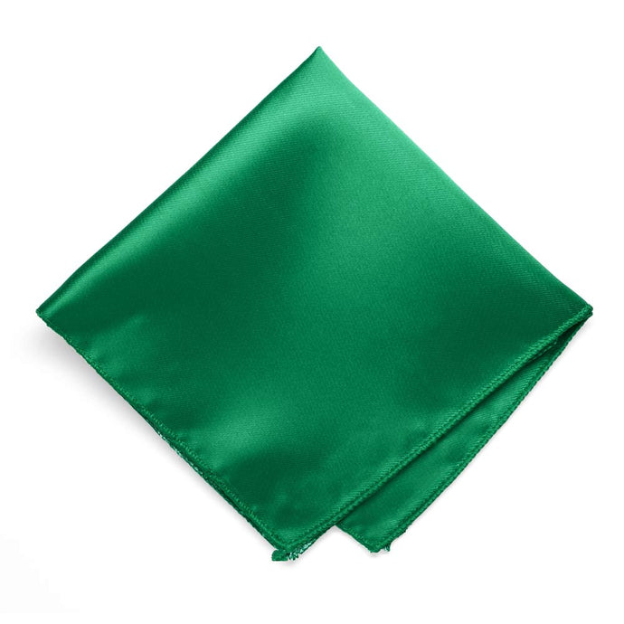 Kelly Green Solid Color Pocket Square