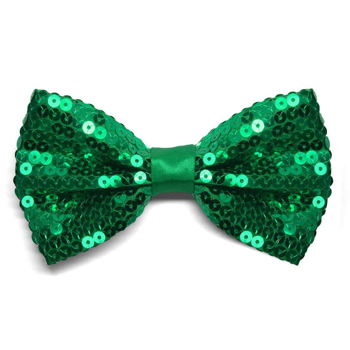 Kelly Green Sequin Bow Tie